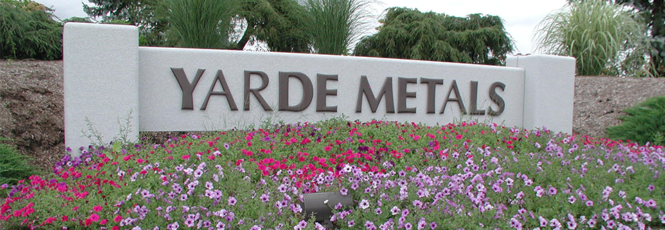 Yarde Metals Sign