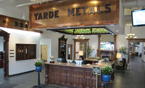 View of Lobby at Yarde Metals Headquarters in Connecticut